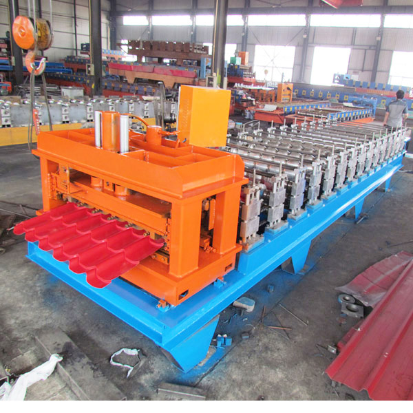 Hky PLC Automatic Colored Steel Glazed Roofing Tile Roll Forming Machine