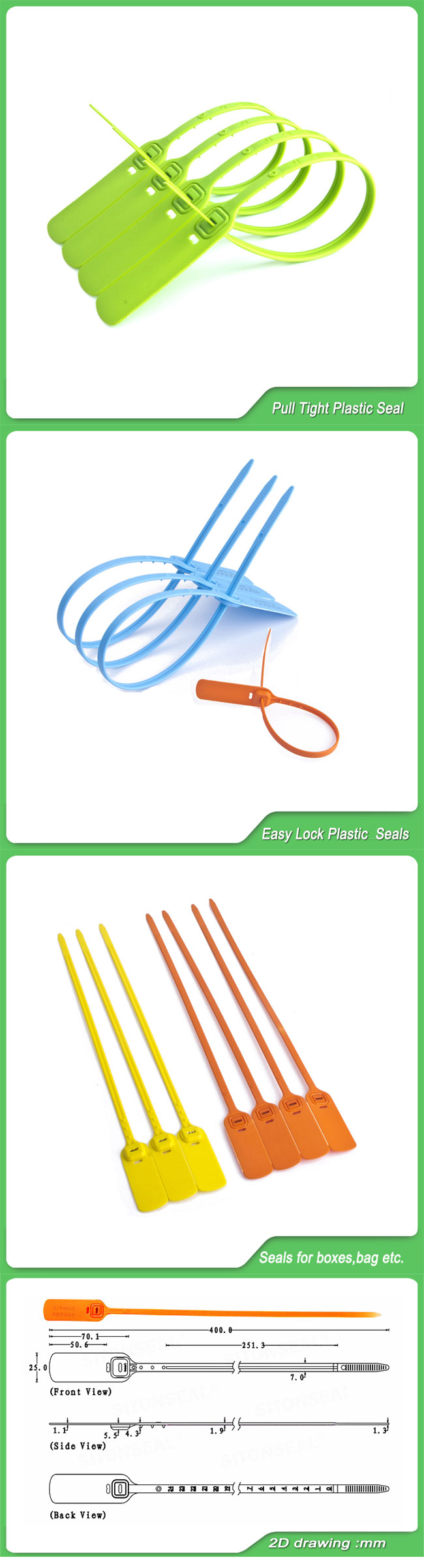 Plastic Seal, Pull Tight Seal, Jy400, Container Seals