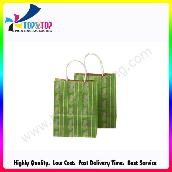Personalized Logo Wholesale Kraft Paper Promotional Bag