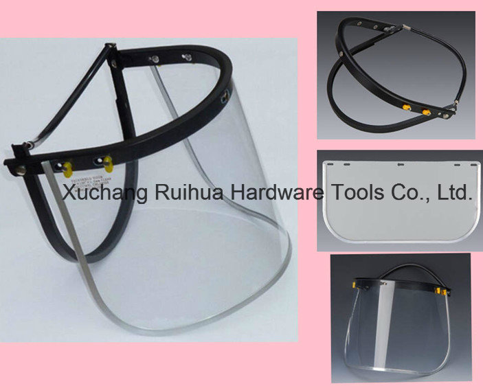 Protective Face Mask, PC/PVC Faceshield Visor, PC Face Shield Visor for Safety Helmet, PVC Face Shield Visor, Clear Face Shield Visor, Green Faceshield Visor