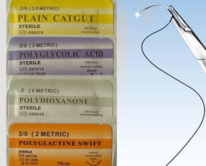 Medical Supply---Sterile Surgical Suture (PGA/PDO/Silk/Nylon/Catgut) USP2/0