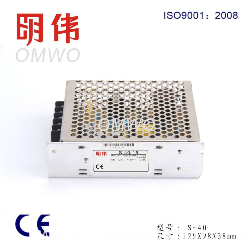 High Quality AC DC Single Output 40W LED Driver Power Supply