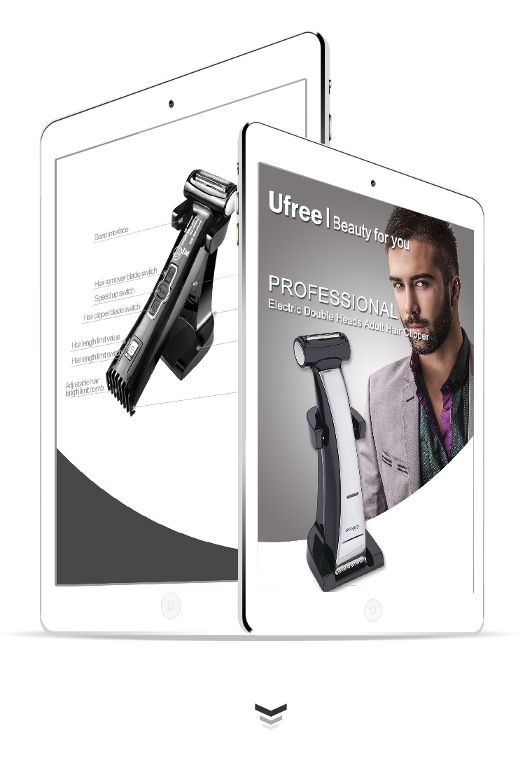 Multifunctional Hair Clipper Professional Hair Trimmer and Hair Shaver 2 in 1
