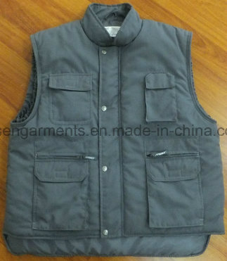 Winter Padded Padding Tc Polyester/Cotton Body Warmer Workwear Work Sleeveless Vest (BW15)