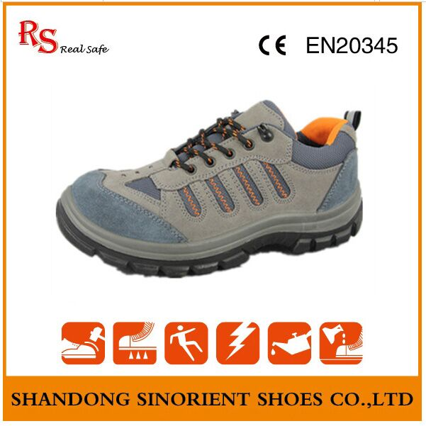 Good Quality Safety Shoes, Suede Leather Summer Safety Shoes RS011