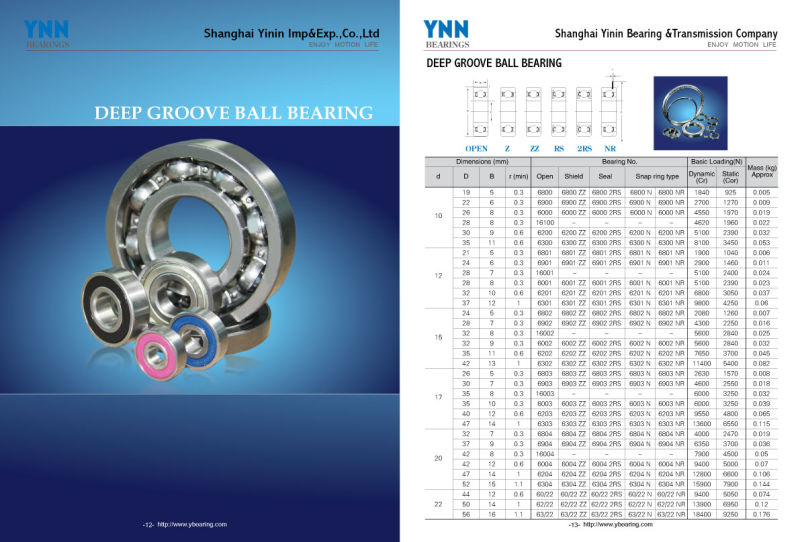 Bearing Manufacture Full Ceramic Ball Bearing (16005 16006 Zz 2RS)