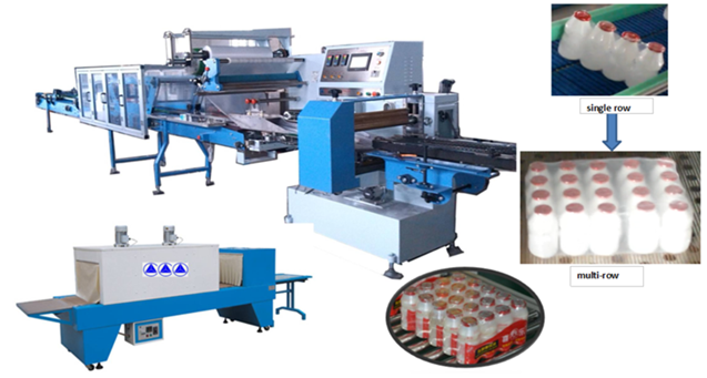 (wider-film) Collective Bottles Secondary Shrink Packaging Machine