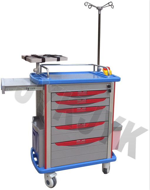 Medical ABS Emergency Trolley Jyk-C10A-2