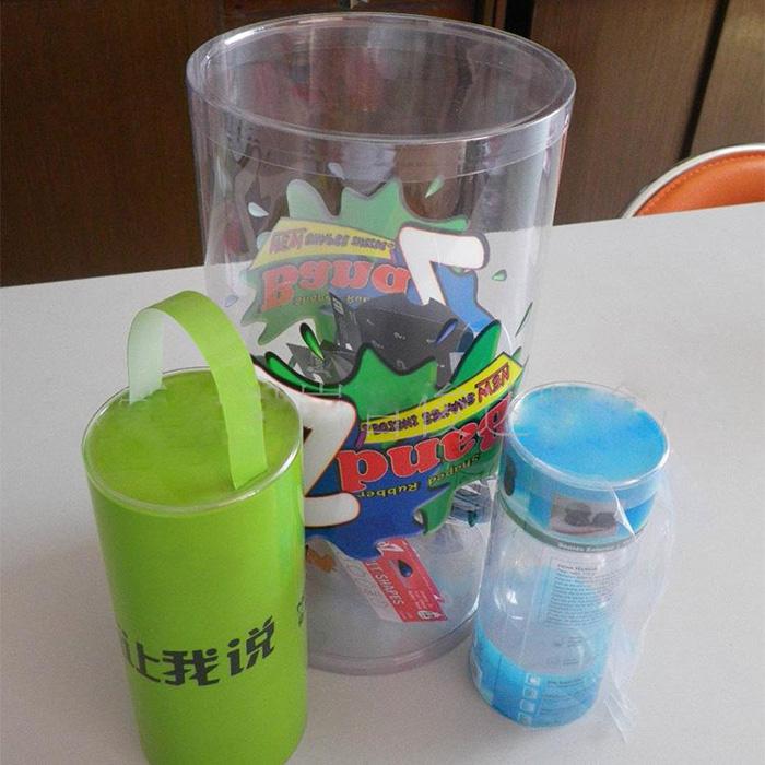 Custom Cylinder Plastic Round Box (PVC 001)