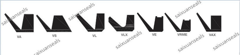 Hydraulic Rotral Shaft Rubber Va, Vs, Vl, Ve V-Ring Seal