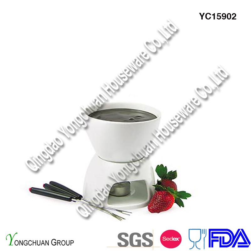 Ceramic Mini Fondue Set on Promotion