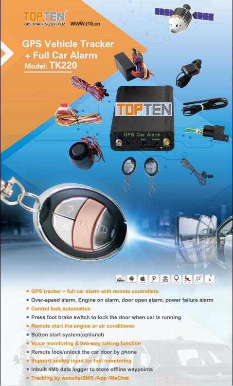 Two Way Communication Car Alarm with Car Remote Starter (TK220-ER)