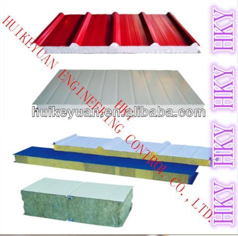Color Steel EPS or Rockwool Composite Board Production Line