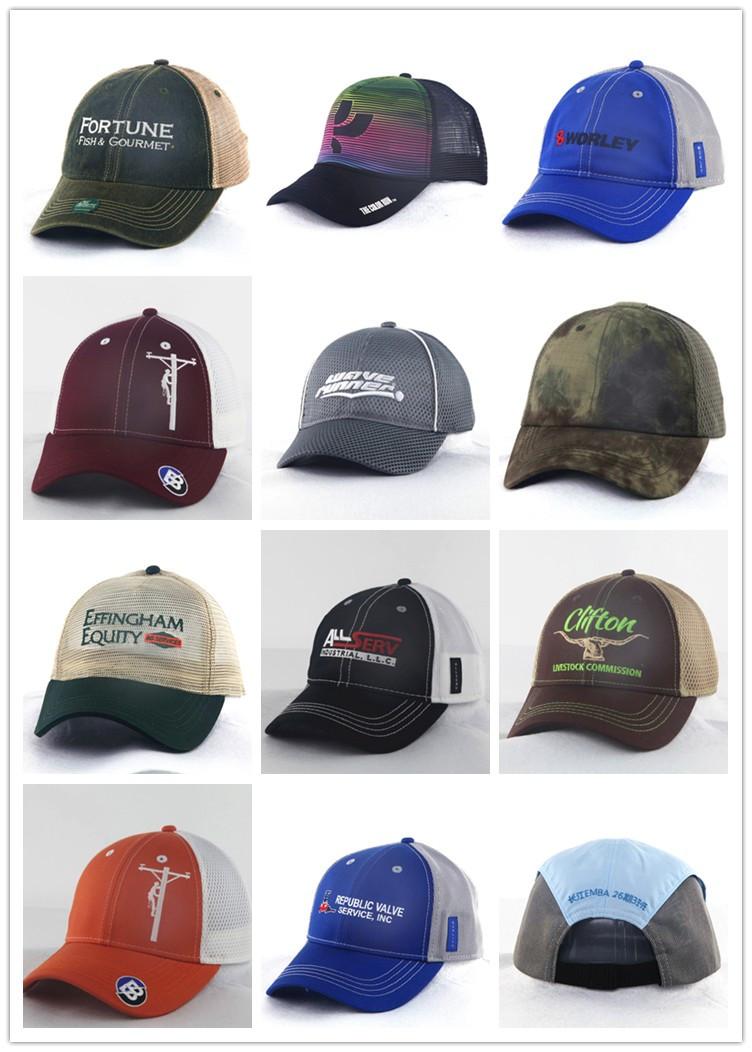 Golf Sports Trucker Mesh Caps with Folding Visor