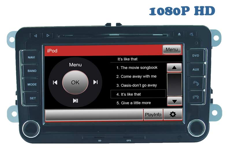 2 DIN Special Car DVD Player for Vw GPS Navigation with Bluetooth/Radio/RDS/TV/Can Bus/USB/iPod/HD Touchscreen Function (HL-8785GB)
