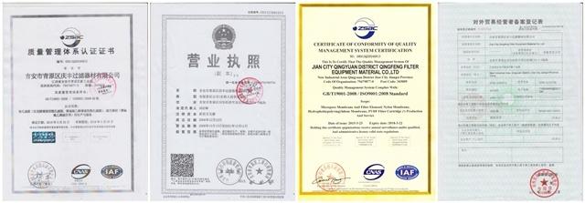 10-Zoll-PVDF-Faltenfilterpatrone für die chemische und Wasserbehandlung