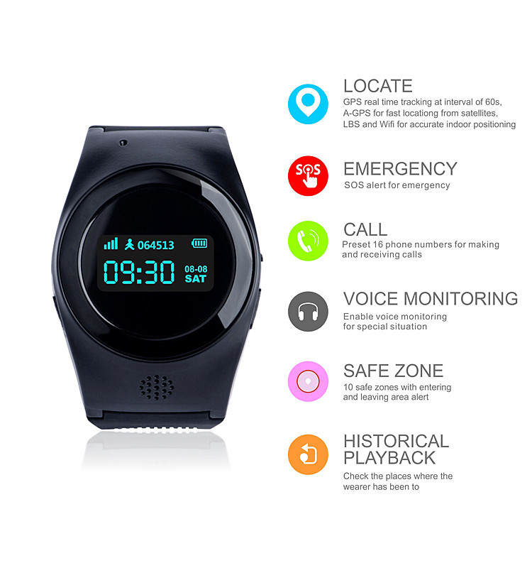 GPS Watch with 3 Days Working Time, GPS, Lbs WiFi Location R11