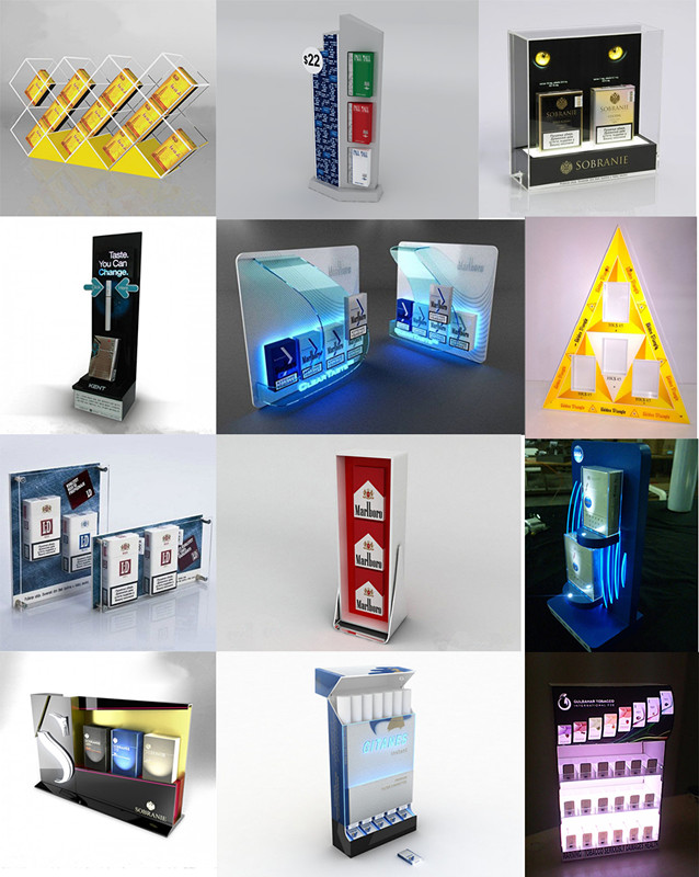 LED Ilumilated Acrylic Cigarette Display Stand Tobacco Display for Sale