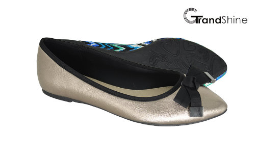 Women's Pointed Toe Flat with Bow Ballet Shoes