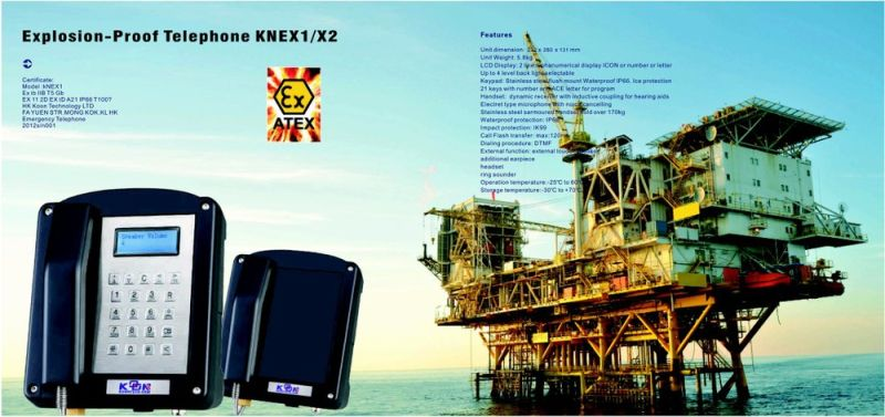 Ex 200 Military Atex Phone Explosion Proof Telephone