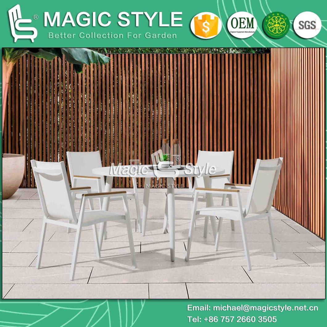 Outdoor Aluminum Dining Table Garden Round Table Kd Dining Table Modern Aluminum Coffee Table