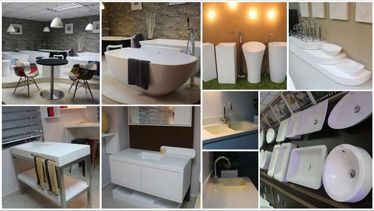 Top Luxury Solid Surface Resin Stone Bathroom Sanitary Ware