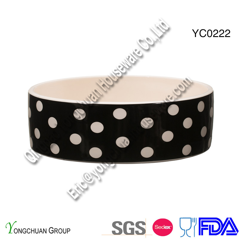 Ceramic Big Pet Bowl for Wholesale