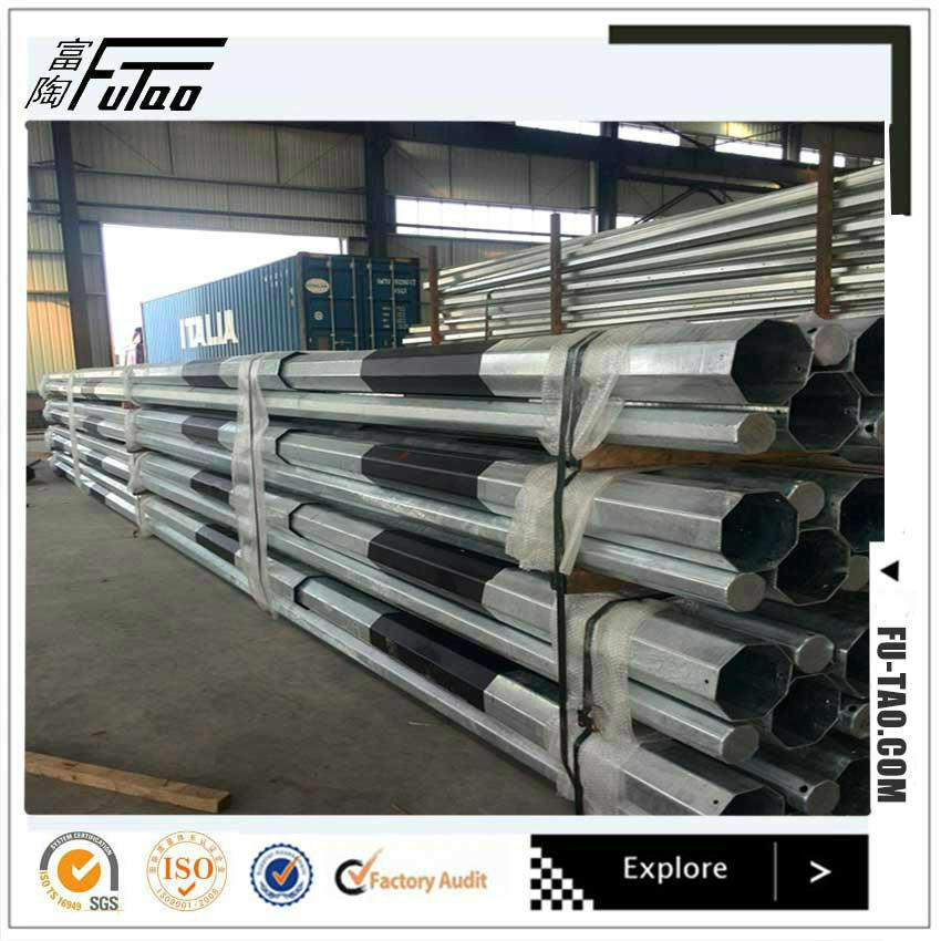 Futao Galvanized 220kv Octagonal Steel Power Pole