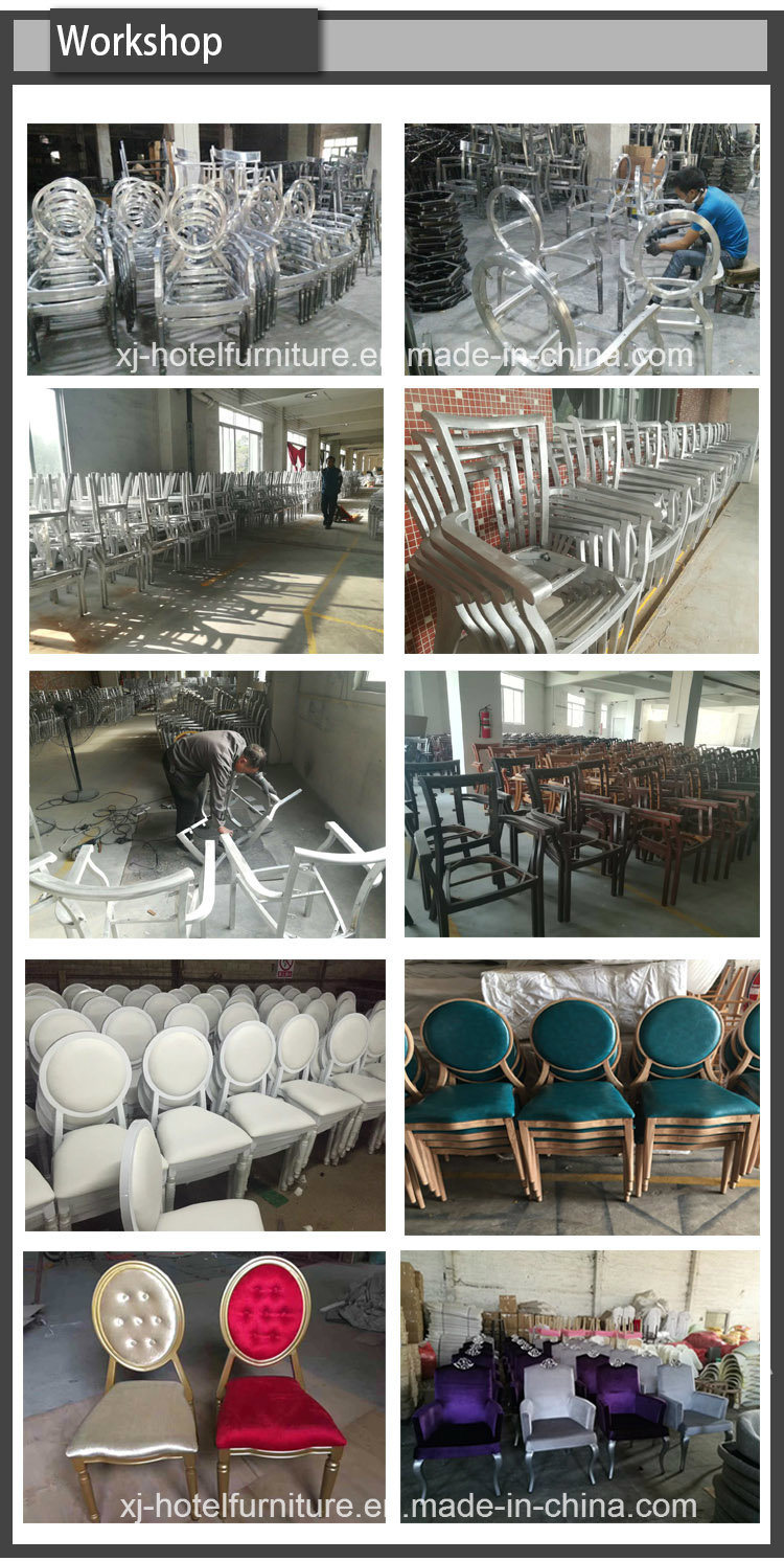 Steel/Aluminum Frame Wooden Dining Chair for Banquet/Hotel/Restaurant/Home/Bedroom