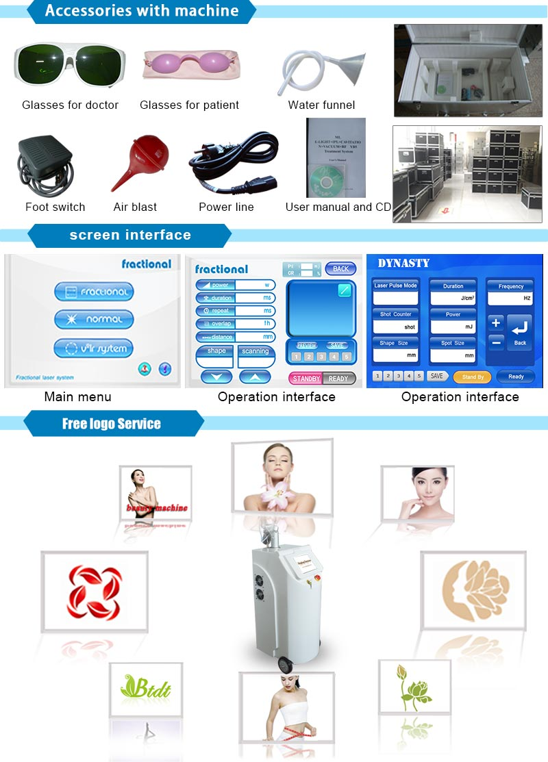 CO2 Fractional Laser Equipment Multifunction Scar/Tattoo/Wrinkle/Freckle Removal Vaginal Tightening