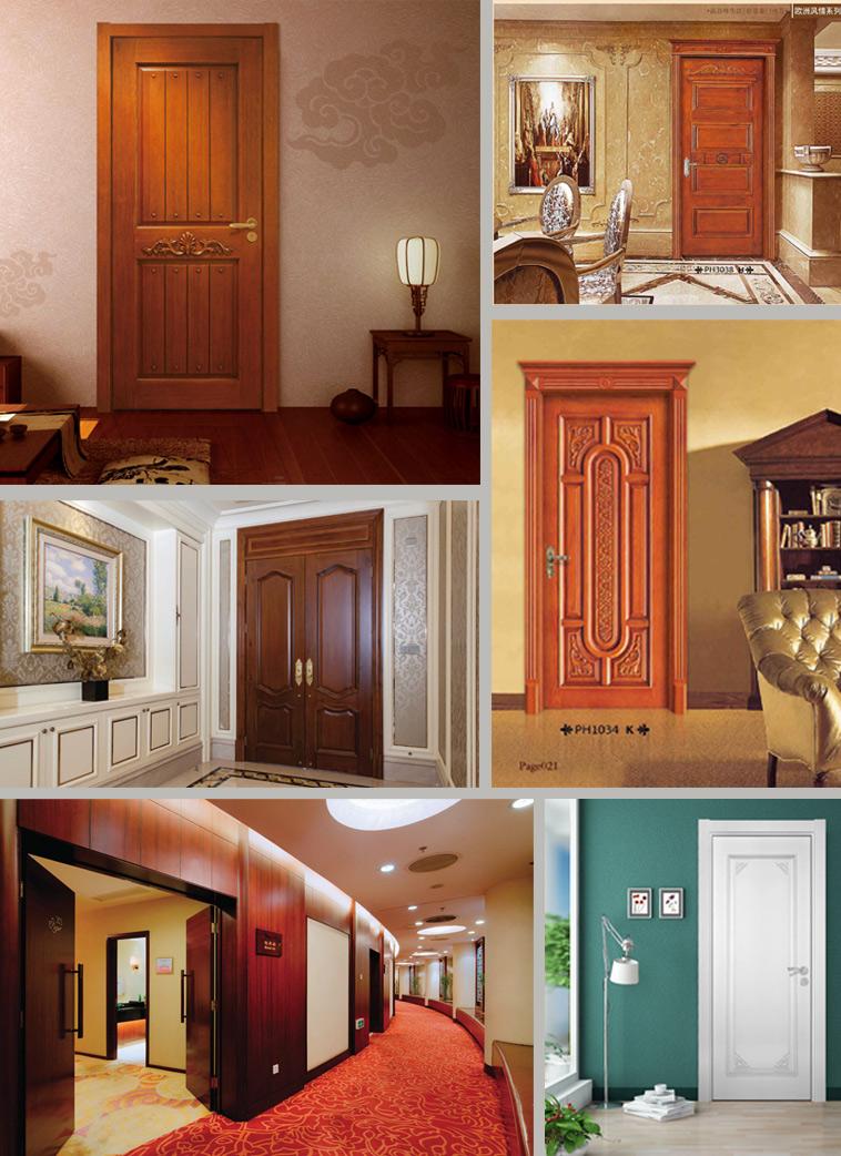 Wooden Entrance Door for Villa Project (WDHO40)