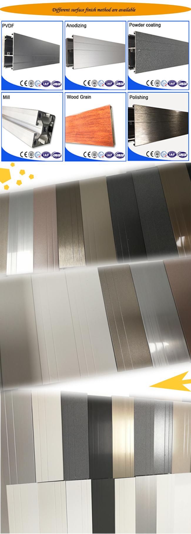 Aluminum Extrusion Divider Bar Profile