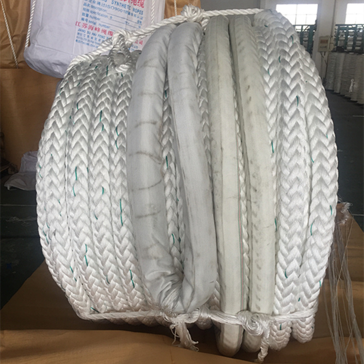 12 Strand Polyester and Polypropylene Mixed Combined Synthetic Rope
