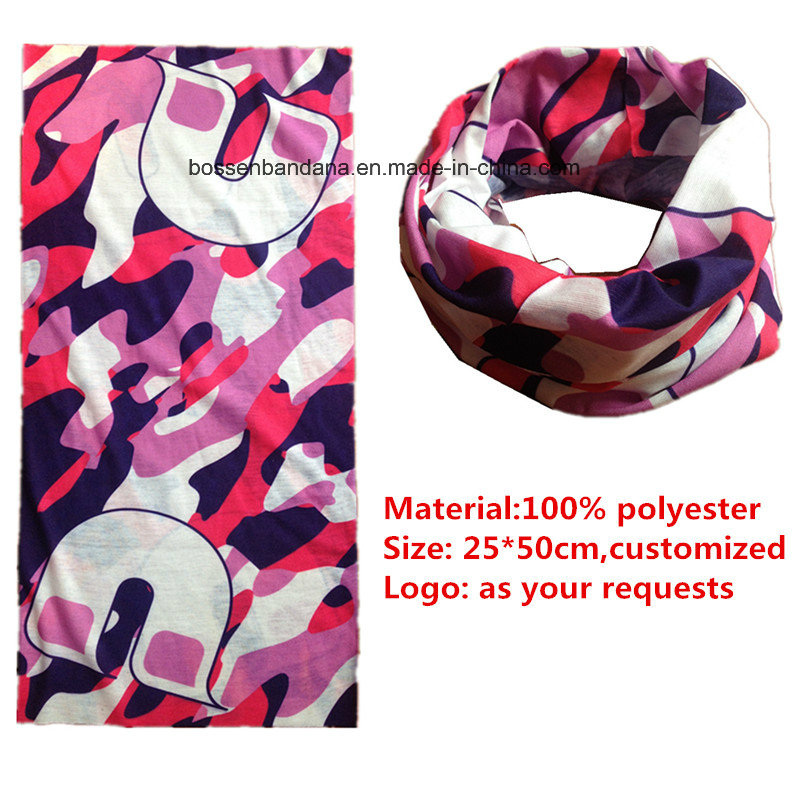 OEM Produce Customized Logo Printed Microfiber Cheap Cartoon Multifunctional Sports Headwear Bandana Buff