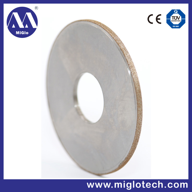 Customized Electroplating Groove CBN and Diamond Tool Grinding Wheel (GW-100049)