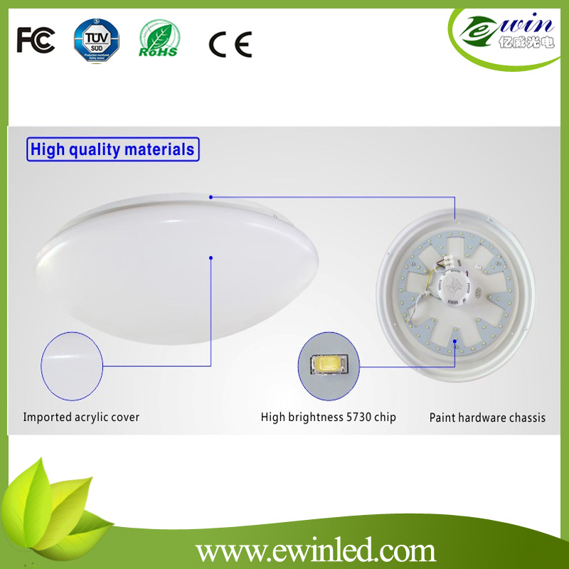 16W Construction Hole Ø 260mm LED Round Ceiling Light with Ce RoHS & UL