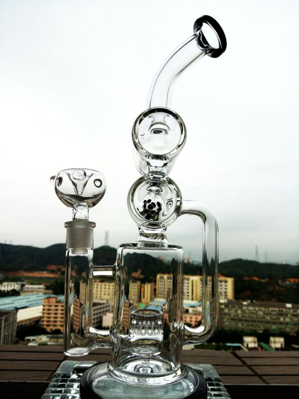 Hot Selling 12 Inch Height Recycle Glass Water Pipe with Wholesale Price