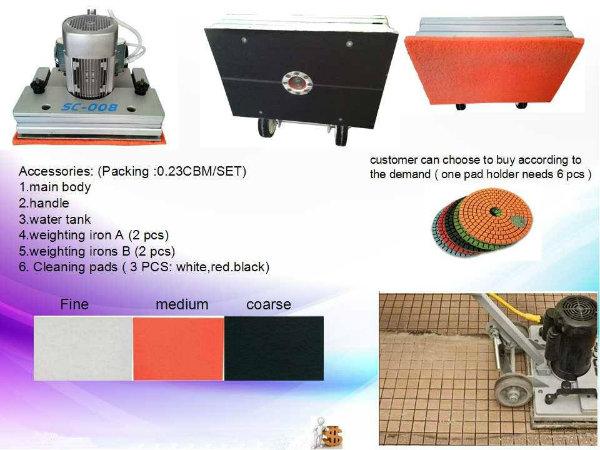 1500W Multi-Function Floor Grinding Machine, Industrial Floor Cleaning Machine