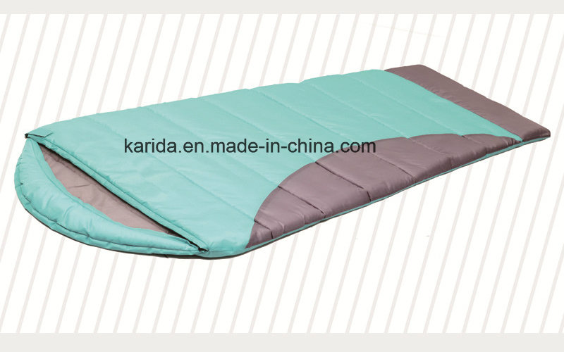 Polyester Mixed Color Cap Envelop Camping Sleeping Bag