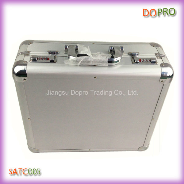 Silver ABS Material Custom Made Aluminum Suitcase Tool Box (SATC005)