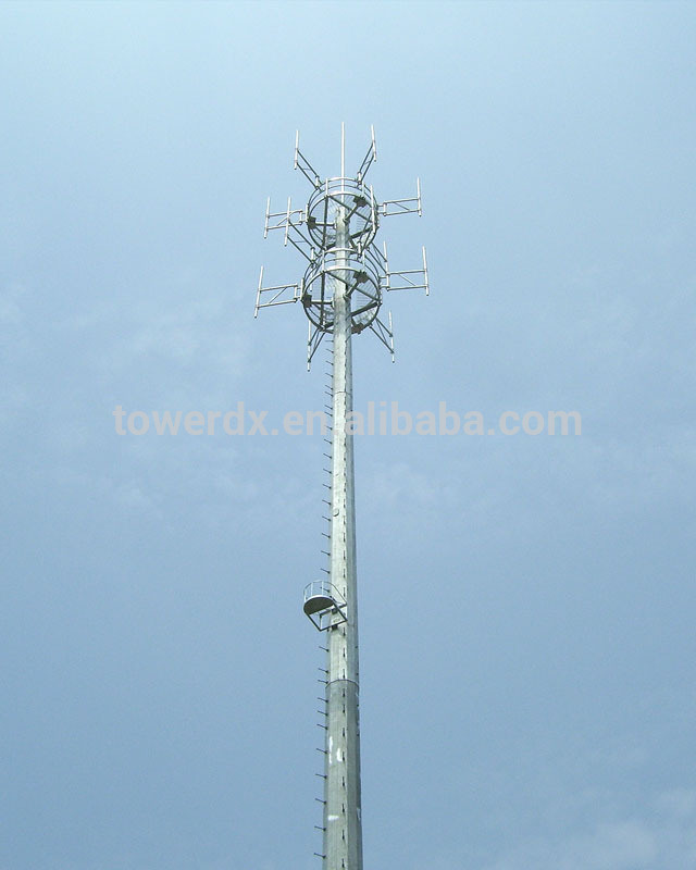 Galvanized Steel Monopole Telecom Tower