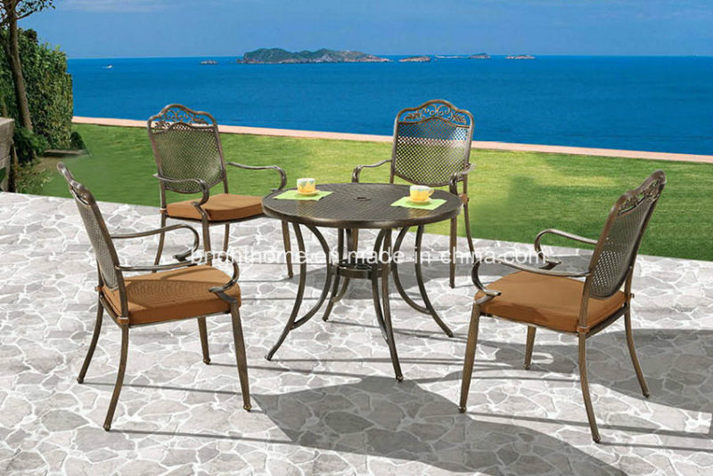 New Design Stackable Used Restaurant Cast Aluminum Furniture
