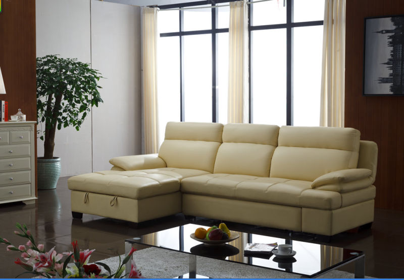 China Recliner Sofa, Living Room Modern L Shape Sofa, Bed Folding Function Sofa (967)