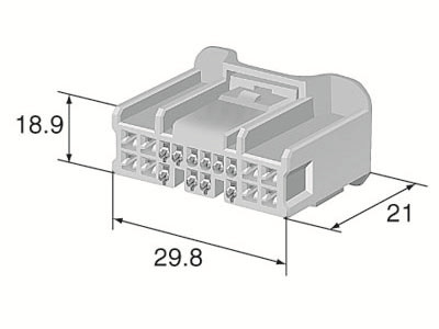 Sumitomo Automotive Female Connector 6098-5604