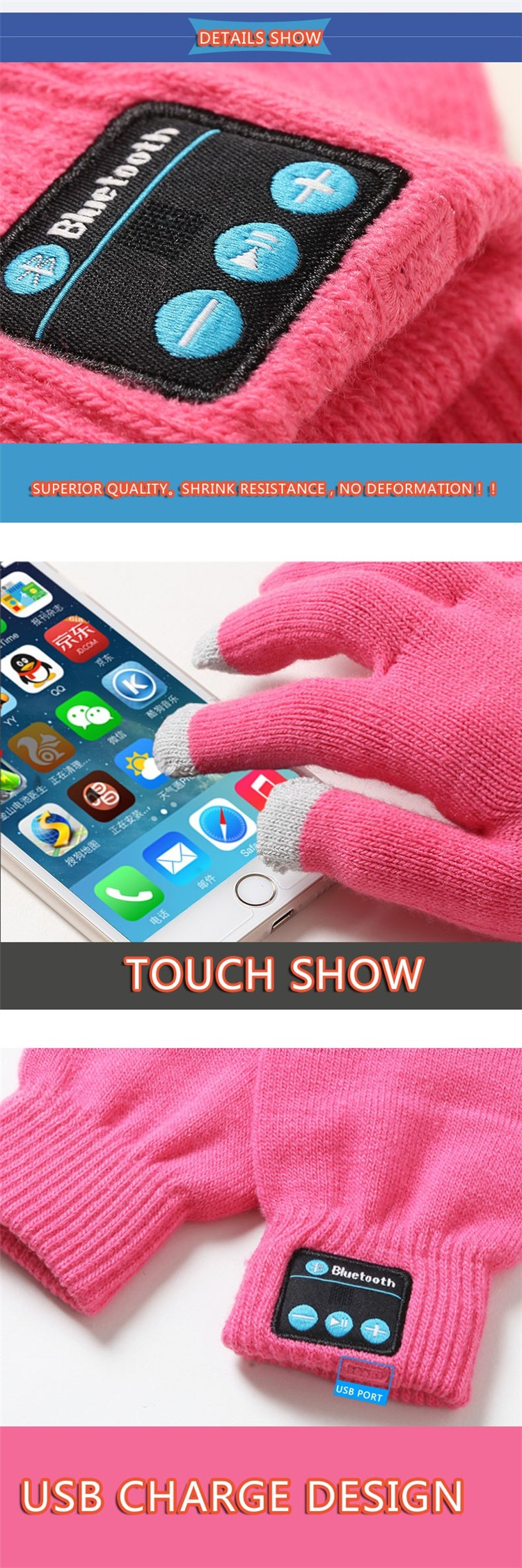 Wireless Bluetooth Gloves
