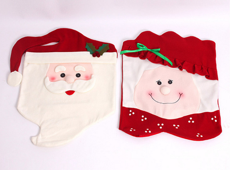 OEM Christmas Chair Cover Decoration and Craft for Promotion Gift