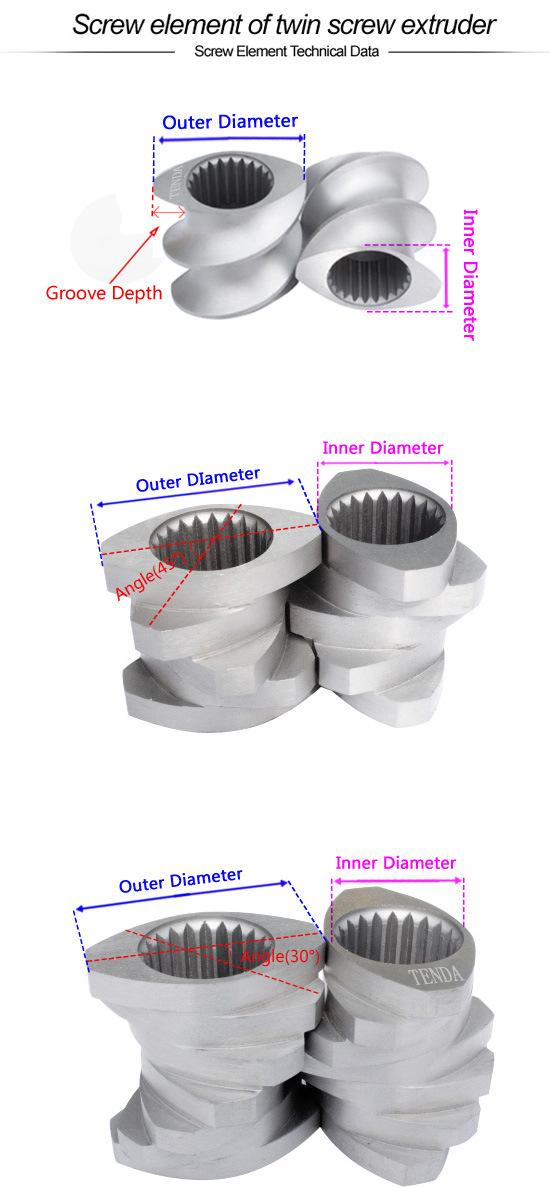 Cr12MOV Material Screw for Nanjing Tengda Plastic Extruder