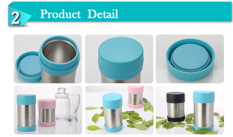 350ml, 500ml Double Wall Stainless Steel Mini Lunch Box