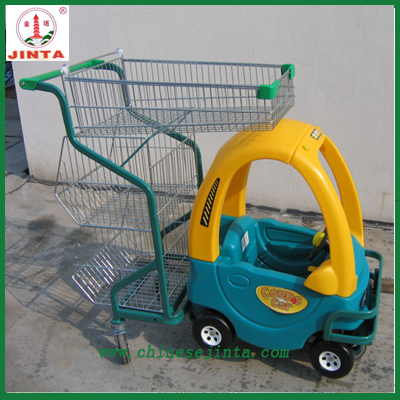 Supermarket Center Kids Sit in Shopping Trolley (JT-E19)