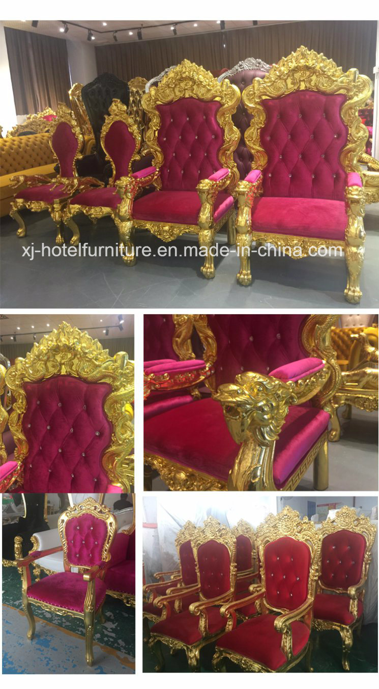 Royal Chair Queen Chair Chaise Longue for Wedding/Restaurant/Hotel/Banquet